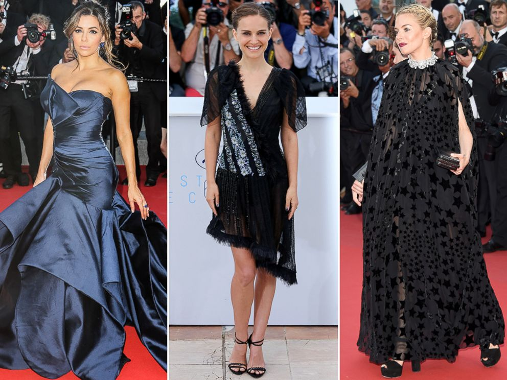PHOTO: Eva Longoria, Natalie Portman and Sienna Miller arrive at the 68th annual Cannes Film Festival, May 17, 2015, in Cannes, France.