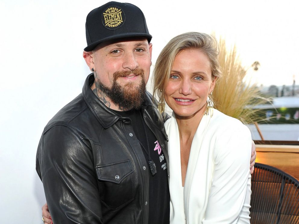 PHOTO: Benji Madden and Cameron Diaz attend House of Harlow 1960 x REVOLVE, June 2, 2016, in Los Angeles.