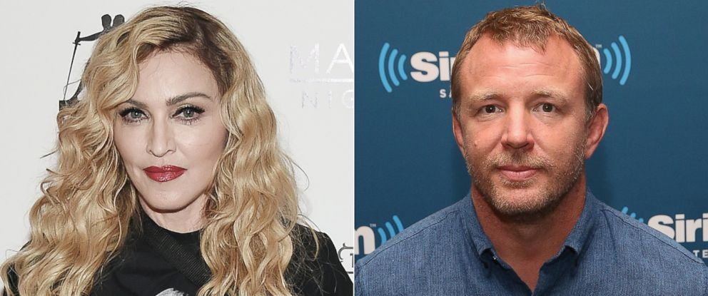PHOTO: (L-R) Singer Madonna in Las Vegas, Oct. 25, 2015 and filmmaker Guy Ritchie in New York City, Aug. 12, 2015.