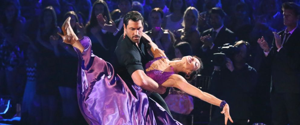 """PHOTO: Maksim Chmerkovskiy and Meryl Davis are seen on an episode of """"Dancing With The Stars."""""""