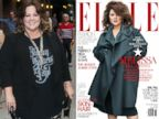 PHOTO: At left, Melissa McCarthy in New York; at right, McCarthy on the cover of Elle.