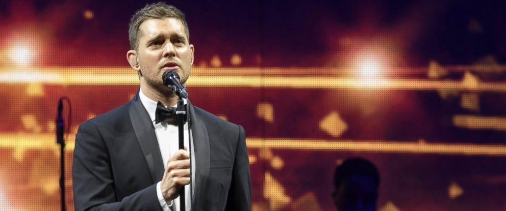PHOTO: Singer Michael Buble performs at Palacio de los Deportes, Jan. 31, 2014, in Madrid.