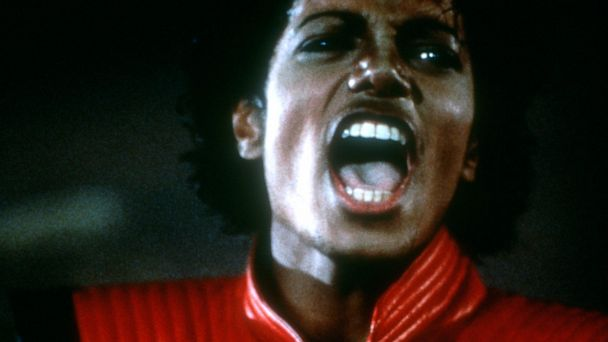 "PHOTO: Michael Jackson is shown in a scene from his video for ""Thriller."""