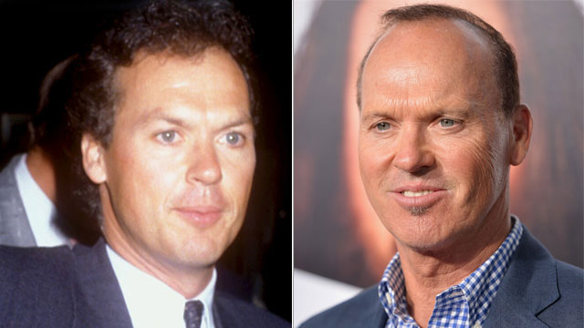 PHOTO:Michael Keaton then and now.