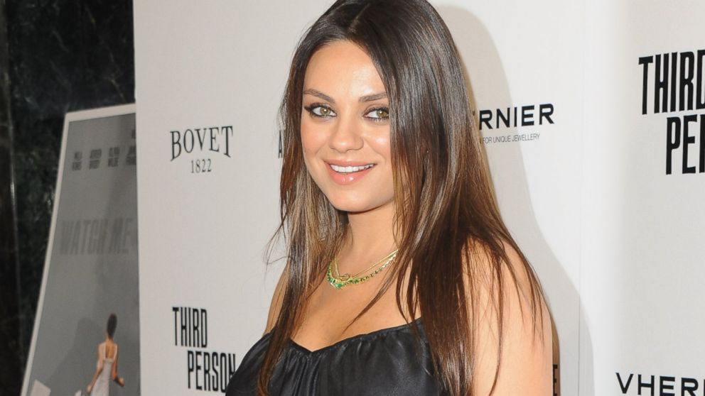 "Mila Kunis arrives at the Los Angeles premiere for ""Third Person"" at Linwood Dunn Theater at the Pickford Center for Motion Study in Hollywood, Calif., June 9, 2014."