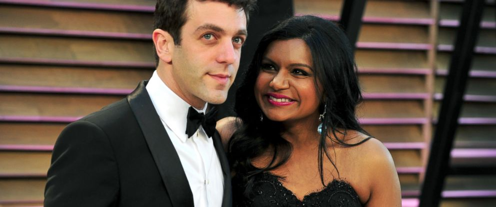 PHOTO: B.J. Novak and Mindy Kaling attend the 2014 Vanity Fair Oscar Party hosted by Graydon Carter, March 2, 2014, in West Hollywood, Calif.