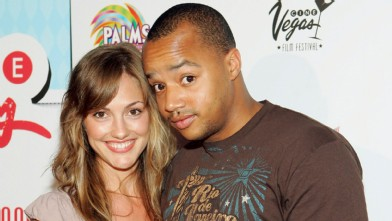 PHOTO:Actor Donald Faison and actress Minka Kelly arrive at the screening of the movie 'Vegas Baby' during the CineVegas film festival at the Brenden Theatres at the Palms Casino Resort June 17, 2005 in Las Vegas.