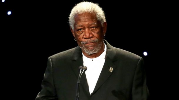 "PHOTO: Morgan Freeman speaks at the United States Holocaust Memorial Museum Presents ""2014 Los Angeles Dinner: What You Do Matters"" at The Beverly Hilton Hotel in Beverly Hills, Calif., March 6, 2014."