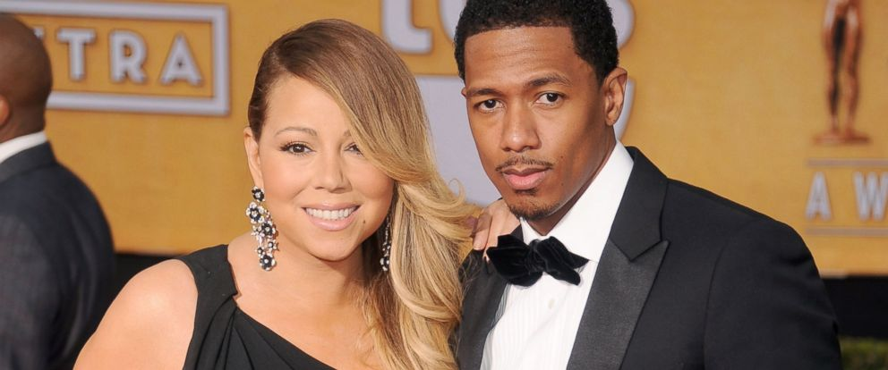 PHOTO: Mariah Carey and Nick Cannon arrive at the 20th Annual Screen Actors Guild Awards