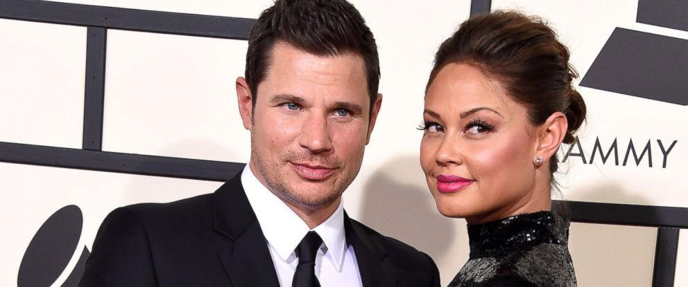 PHOTO: Nick Lachey and Vanessa Lachey arrives at the The 58th GRAMMY Awards at Staples Center, Feb. 15, 2016, in Los Angeles.