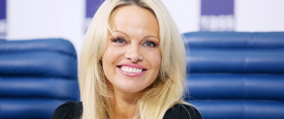 PHOTO: Pamela Anderson at an animal rights press conference Dec. 7, 2015 in Moscow.