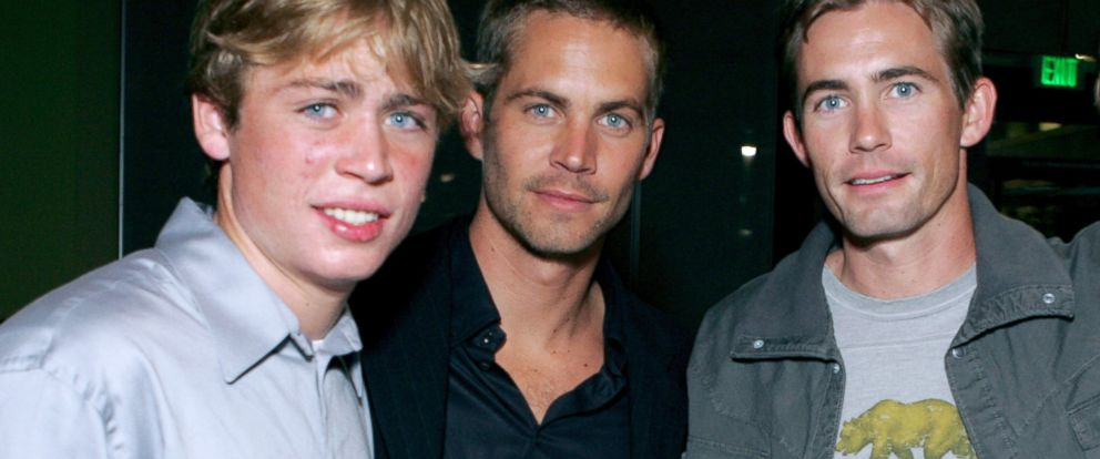 """PHOTO: Cody Walker, Paul Walker and Caleb Walker during MGM Pictures and Columbia Pictures """"Into the Blue"""" after party at Napa Valley Grill in Westwood, Calif."""