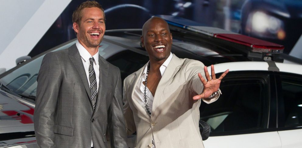 PHOTO: Paul Walker and Tyrese Gibson pose for photographers