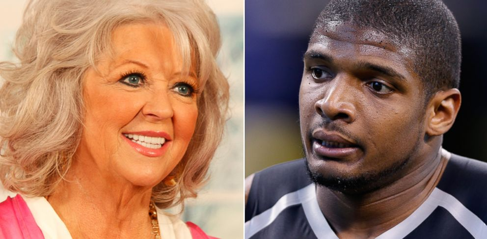 PHOTO: From left, Paula Deen in Detroit, and Michael Sam in Indianapolis
