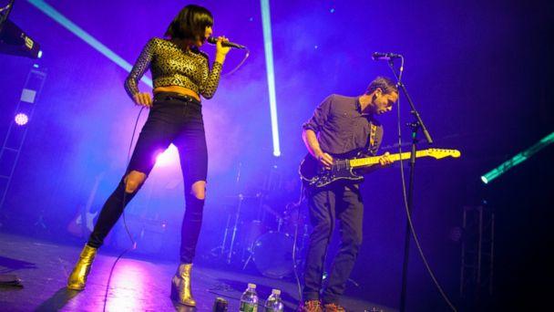 PHOTO: Sarah Barthel and Josh Carter of Phantogram perform on stage at Terminal 5, Dec. 4, 2013 in New York City.