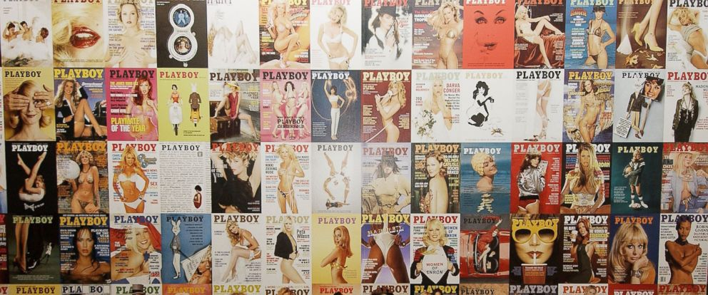 "PHOTO: Playboy covers are seen on display at the ""Playboy Exposed"" Private View at the Sony Ericsson Proud Camden, Oct. 19, 2005, in London."