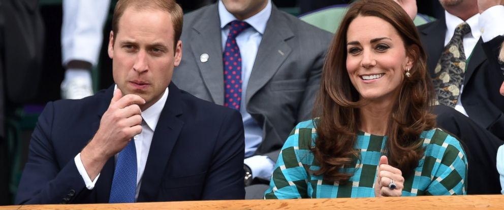 PHOTO: Catherine, Duchess of Cambridge and Prince William, Duke of Cambridge attend the mens singles final between Novak Djokovic and Roger Federer on centre court during day thirteen of the Wimbledon Championships at Wimbledon on July 6, 2014 in London.