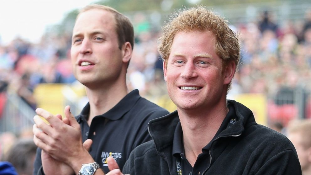 Prince William, Duke of Cambridge and his brother Prince Harry cheers the athletes during the Invictus Games athletics at Lee Valley, in this Sept. 11, 2014 file photo, in London.