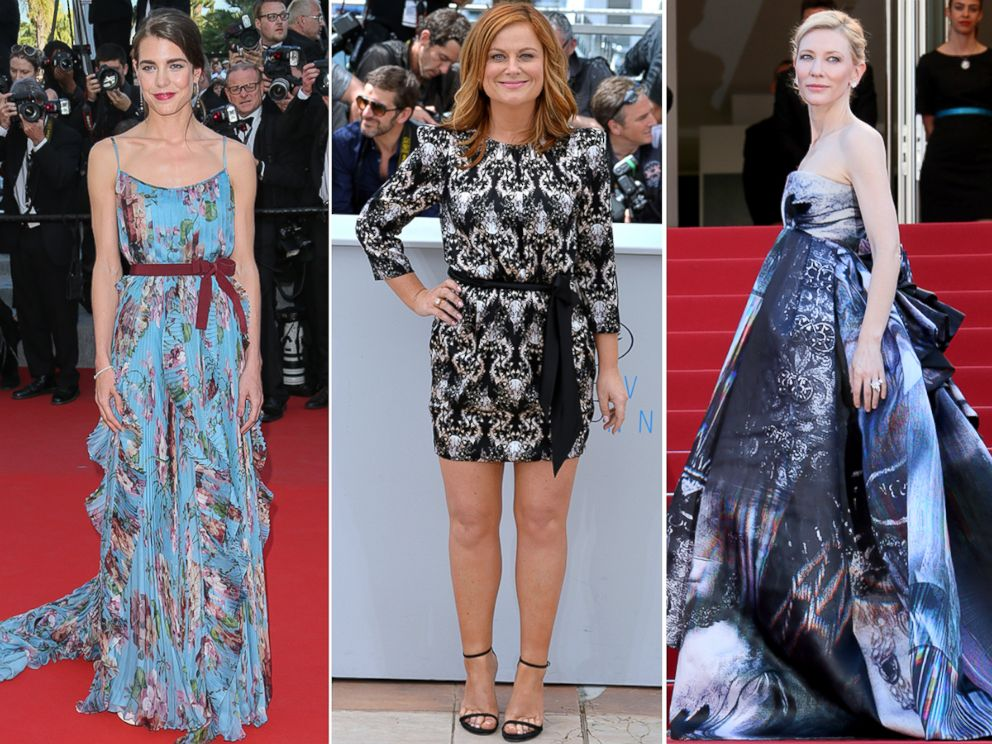 PHOTO: Charlotte Casiraghi, Amy Poehler and Cate Blanchett arrive at the 68th annual Cannes Film Festival, May 17, 2015, in Cannes, France.