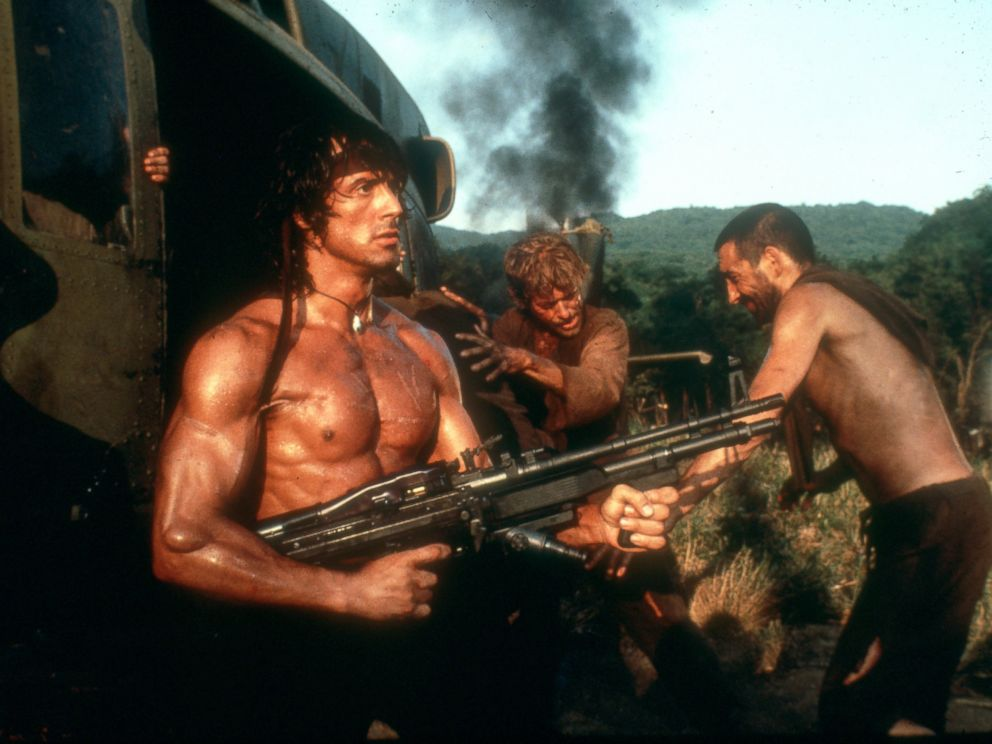 PHOTO: Sylvester Stallone in a scene from Rambo.
