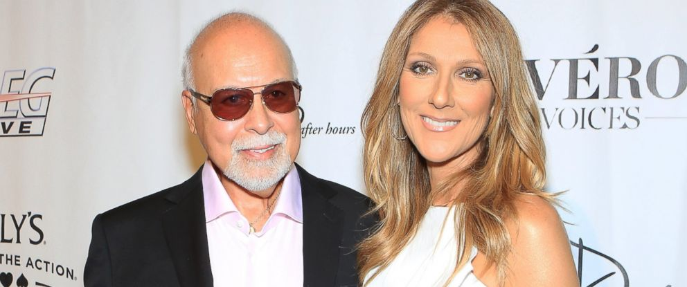 "PHOTO: Rene Angelil, left, and Celine Dion arrive at the premiere of the show ""Veronic Voices"" at Ballys Las Vegas, June 28, 2013 in Las Vegas."