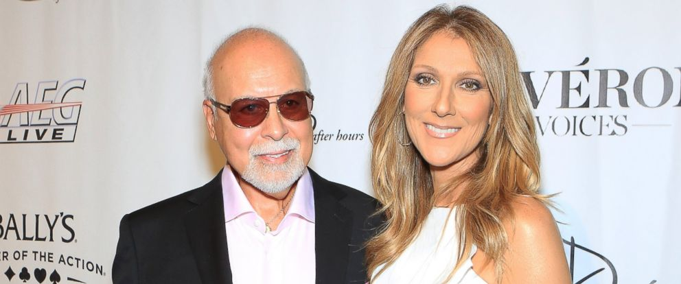 """PHOTO: Rene Angelil, left, and singer Celine Dion arrive at the premiere of the show """"Veronic Voices"""" at Ballys Las Vegas, June 28, 2013 in Las Vegas."""