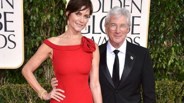 PHOTO: Carey Lowell and Richard Gere arrive at the 70th Annual Golden Globe Awards held at The Beverly Hilton Hotel, Jan. 13, 2013 in Beverly Hills, Calif.