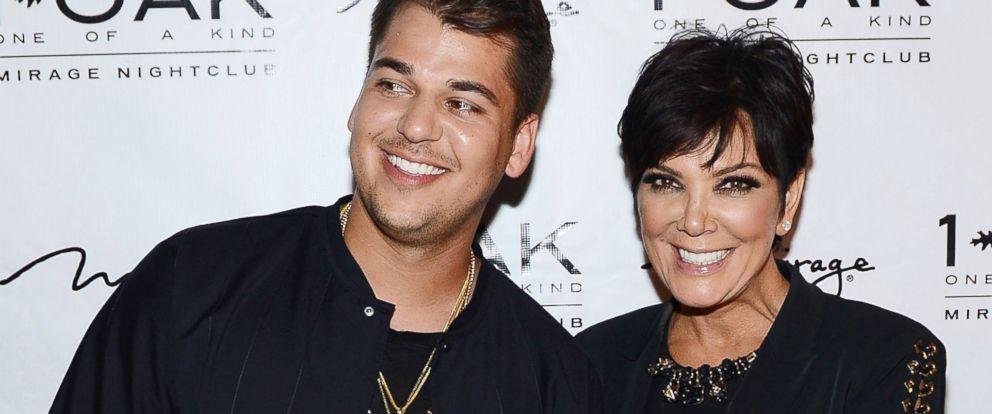 PHOTO: Rob Kardashian and Kris Jenner arrive at Rob Kardashians 26th birthday celebration at 1 OAK Nightclub at The Mirage Hotel & Casino in this March 15, 2013 file photo in Las Vegas.