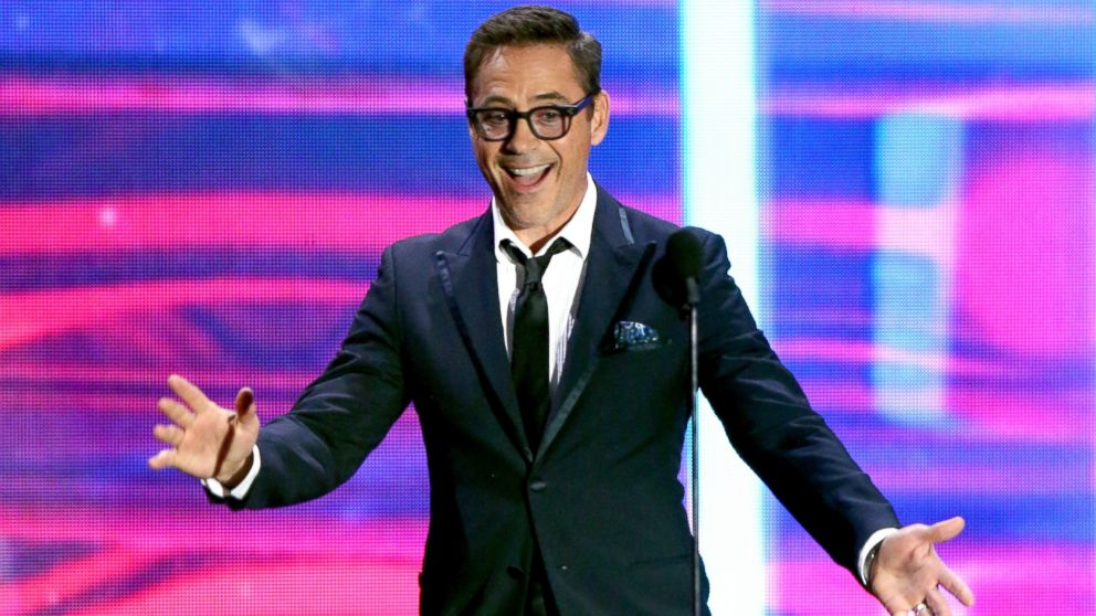 Robert Downey Jr. speaks onstage during the 2015 Jaguar Land Rover British Academy Britannia Awards presented by American Airlines at The Beverly Hilton Hotel, Oct. 30, 2015 in Beverly Hills, Calif.