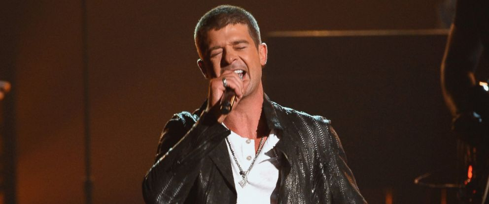 PHOTO: Robin Thicke performs onstage during the 2014 Billboard Music Awards, May 18, 2014 in Las Vegas, Nevada.