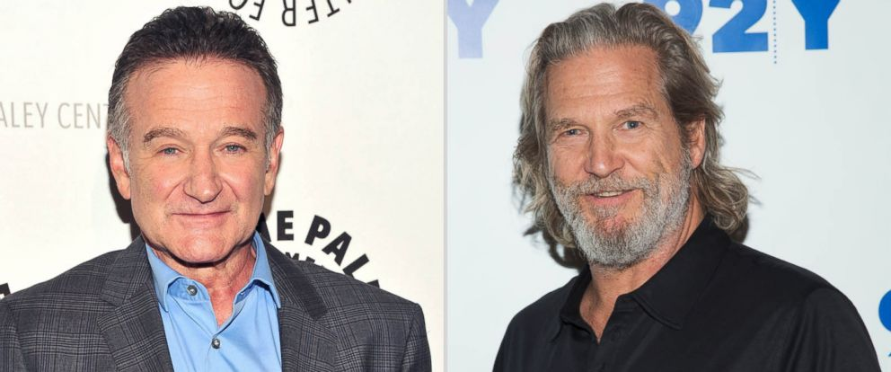 "PHOTO: Left, actor Robin Williams attends the Paley Center For Medias ""A Legendary Evening With Robin Williams"" in this Sept. 19, 2013, file photo; right, actor Jeff Bridges attends 92nd Street Y Presents: An Evening With Jeff Bridges And Lois Lowry."