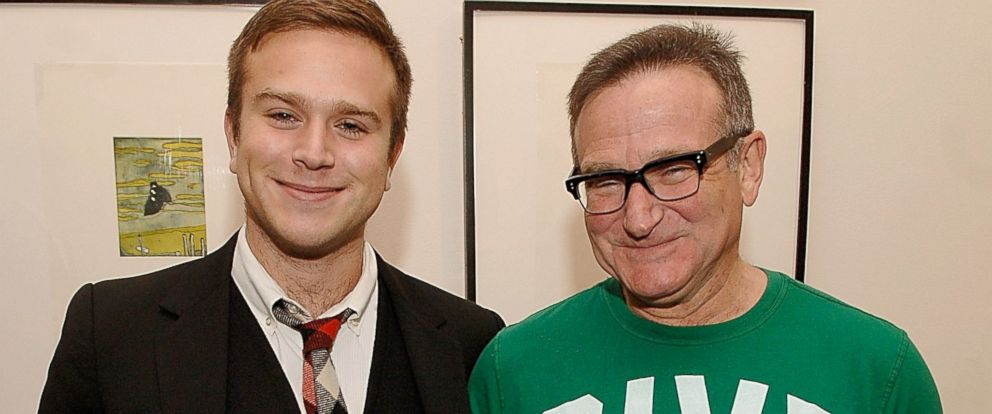 PHOTO: Zak Williams and Robin Williams attend the Timo Pre Fall 2009 Launch with Interview Magazine at Phillips De Pury, Nov. 18, 2008, in New York City.