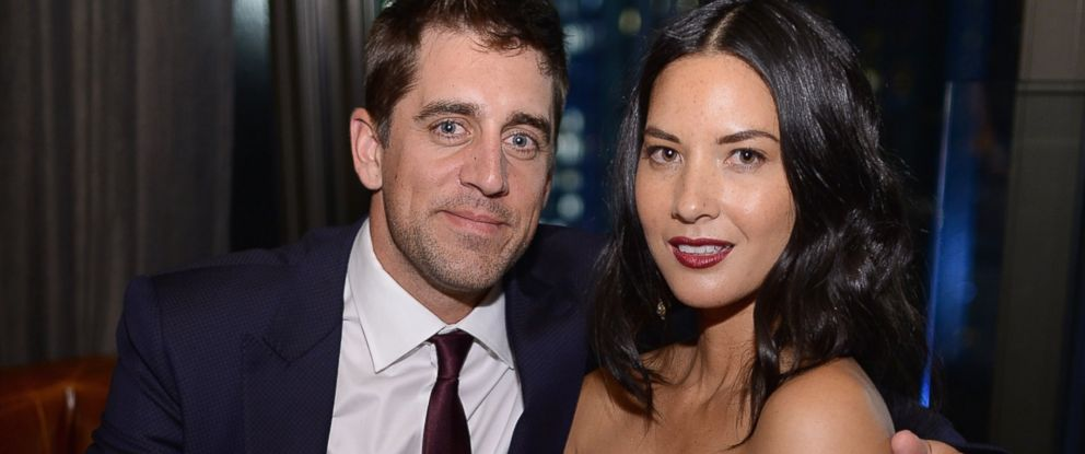 PHOTO: Aaron Rodgers and Olivia Munn are pictured on June 24, 2014 in New York City.