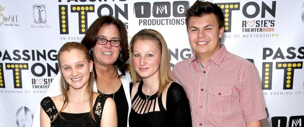 PHOTO: Vivienne Rose ODonnell, Rosie ODonnell, Chelsea Belle ODonnell, center, and Blake Christopher ODonnell attend the 5th Annual Rosies Theater Kids Spring Benefit at The Alvin Ailey Citigroup Theater, May 17, 2015, in New York City.