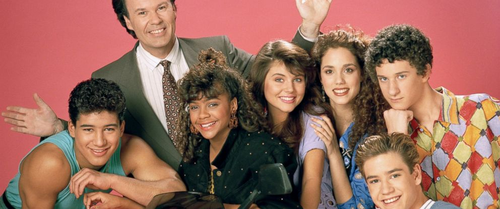 "PHOTO: The cast of ""Saved By The Bell."""