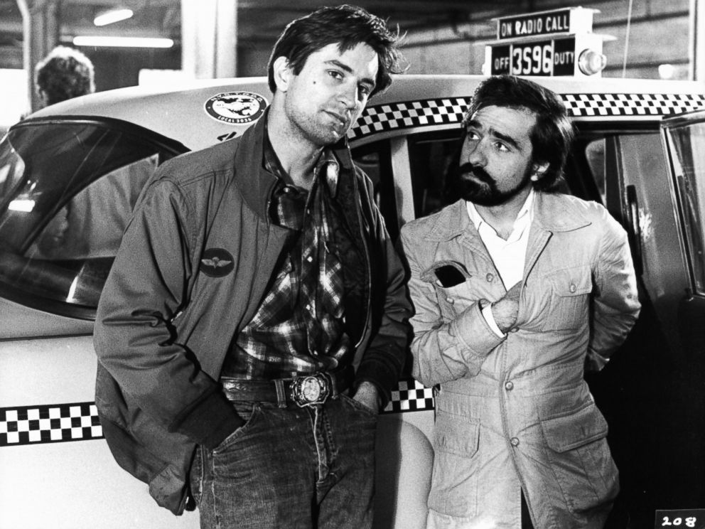 PHOTO: Robert De Niro and Martin Scorsaese on the set of the film Taxi Driver in 1976.