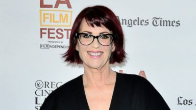 """PHOTO: Actress Megan Mullally attends the premiere of """"Trouble Dolls"""" during the 2014 Los Angeles Film Festival at Regal Cinemas L.A. Live on June 15, 2014 in Los Angeles, Calif."""