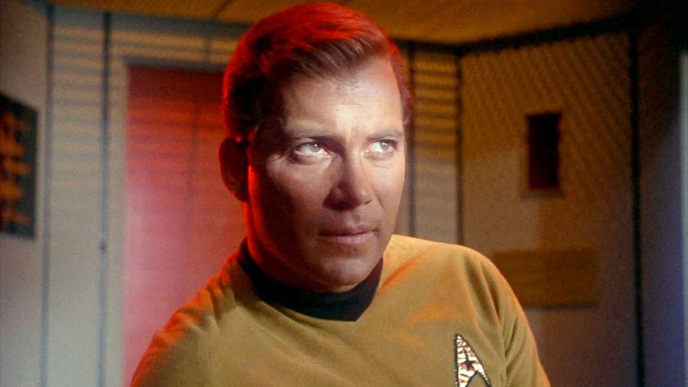 """William Shatner as Captain James T. Kirk in """"Star Trek."""""""