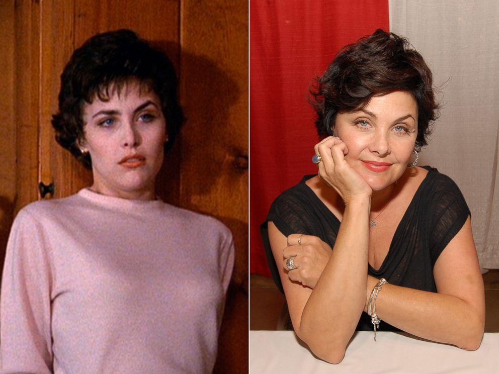 PHOTO: Sherilyn Fenn as Audrey Horne in Twin Peaks, 1990.   Sherilyn Fenn in Novi, Mich., May 18, 2012.