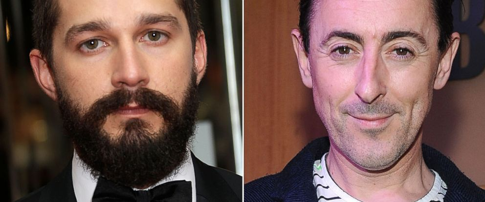 PHOTO: From left, Shia LeBeouf in London, Oct. 19, 2014, and Alan Cumming in New York, Oct. 6, 2014.