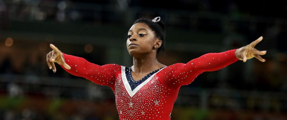 PHOTO: Simone Biles of the United States competes in the balance beam final at the Olympic Games on Aug. 15, 2016, in Rio de Janeiro.