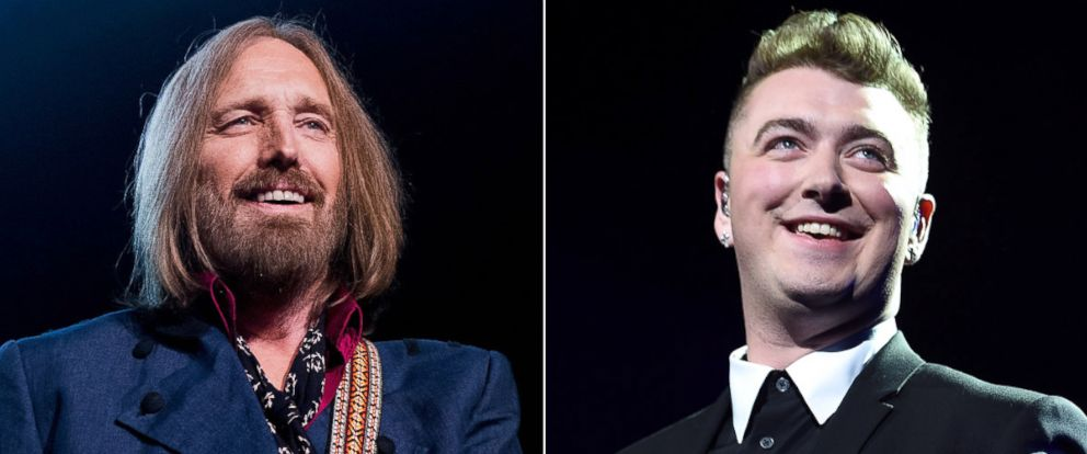 PHOTO: Tom Petty performs onstage at The Forum, Oct. 10, 2014, in Inglewood, Calif.; Sam Smith performs at Madison Square Garden, Jan. 15, 2015 in New York.