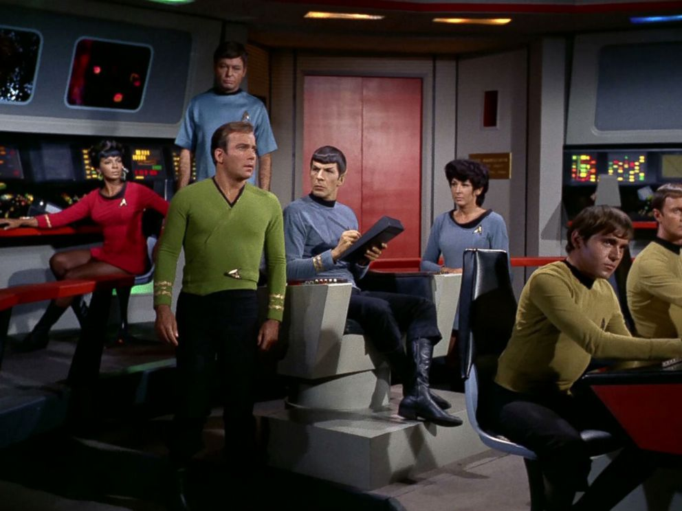 PHOTO:The cast of the TV series Star Trek is seen in an episode that originally aired on Nov.17, 1967.