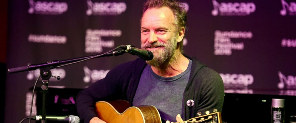 PHOTO: Sting performs at the ASCAP Music Cafe during the 2016 Sundance Film Festival at Sundance ASCAP Music Cafe, Jan. 23, 2016, in Park City, Utah.