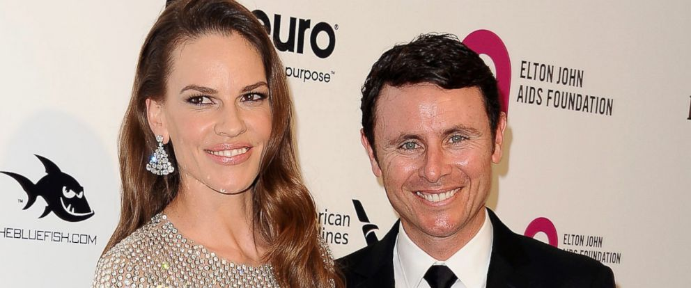 PHOTO: Hilary Swank and Ruben Torres attend the 24th annual Elton John AIDS Foundations Oscar viewing party, Feb. 28, 2016, in West Hollywood, Calif.