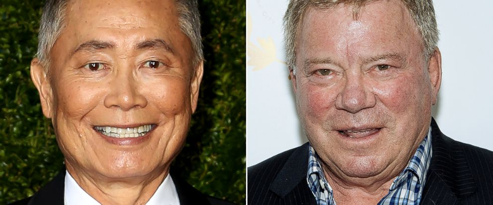 PHOTO: George Takei and William Shatner are engaged in an online feud.
