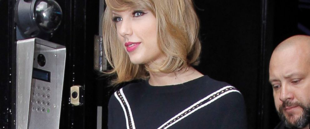 PHOTO: Taylor Swift is seen leaving the Kiss FM Studios, Oct. 8, 2014, in London.