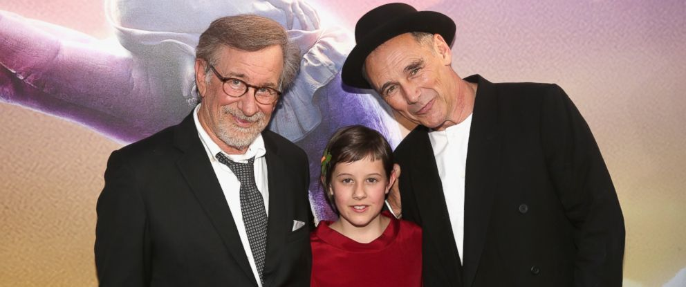 "PHOTO: Director Steven Spielberg, actress Ruby Barnhill and actor Mark Rylance arrive on the red carpet for the US premiere of Disneys ""The BFG,"" directed and produced by Steven Spielberg, June 21, 2016, in Hollywood, Calif."