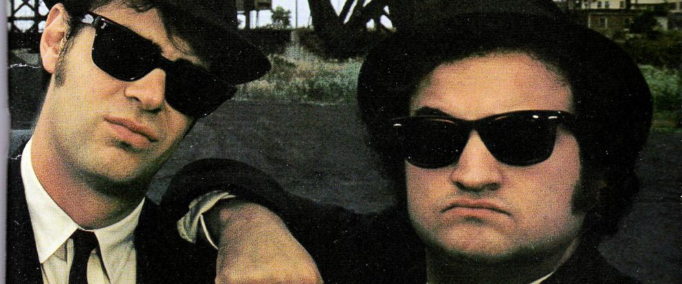 "PHOTO: Dan Aykroyd, left, and John Belushi as ""The Blues Brothers."""