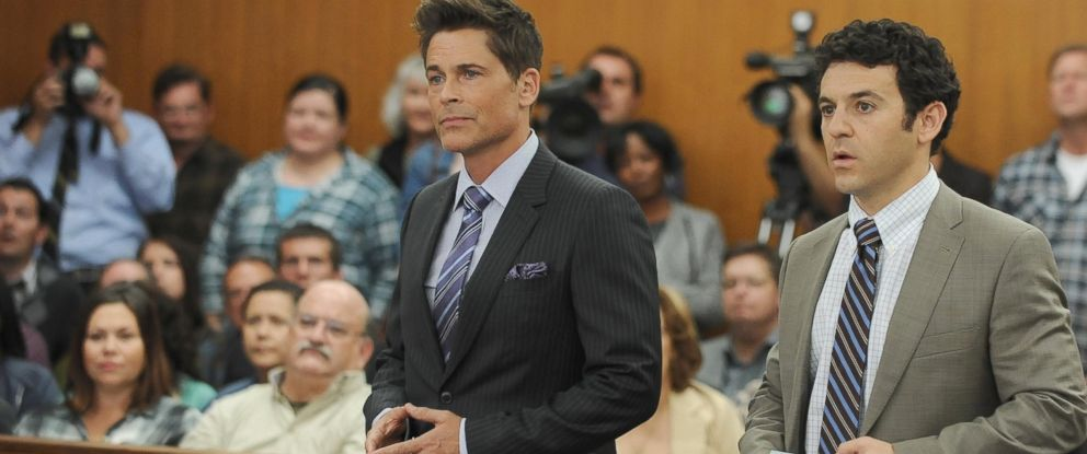 "PHOTO: Rob Lowe and Fred Savage appear in a scene from ""The Grinder."""